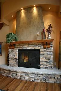 Stack, Stone, Fireplace, Top, Stacked