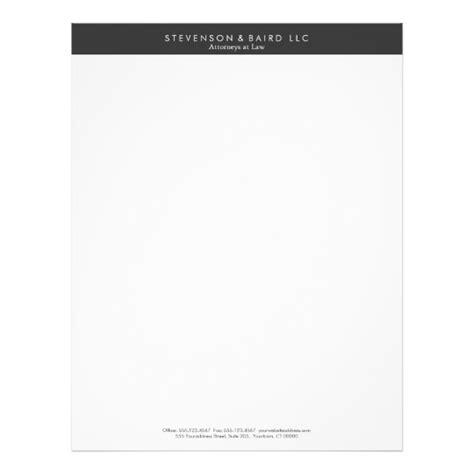 simple professional black  white letterhead zazzlecom