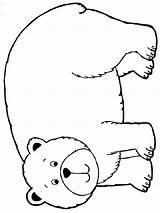 Bear Coloring Pages Animals דו� לצ�יעה Printable תמונת �ו sketch template