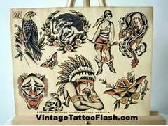 Pin Vintage Tattoo Fla...