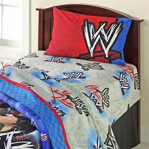 Wwe champion sheet set home bed bath bedding sheets for Wwe bathroom set