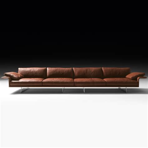Contemporary Italian Leather Sofas by Large Leather Contemporary Italian Sofa
