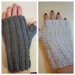 Modele De Tricotin Facile : tricoter des mitaines facile youtube ~ Melissatoandfro.com Idées de Décoration