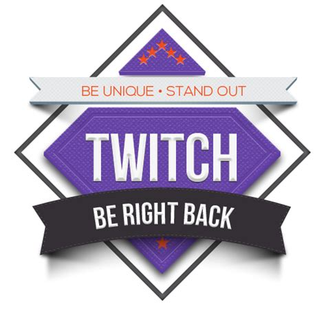 Twitch Be Right Back Screen Template How To by Twitch Brb Tile