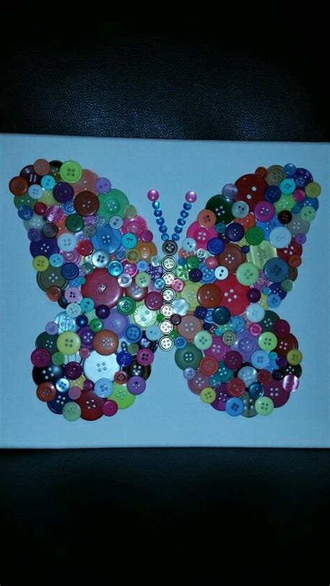 colorful button art butterfly button art button crafts