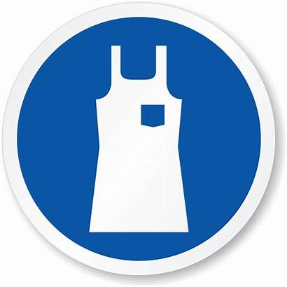 Apron Wear Sign Protective Protection Iso Ppe