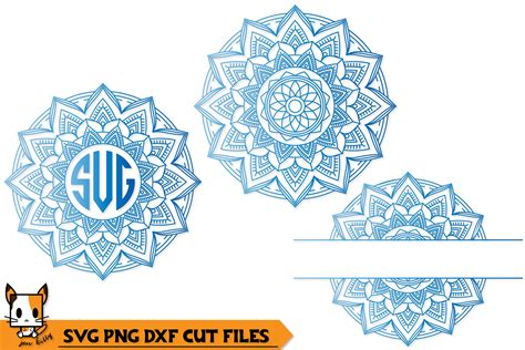 Might be a new year, but we're rolling out a monthly bundle with the same awesome savings everybody loves! Mandala Monogram Set of 3 - SVG PNG DXF Cut Files (362123 ...