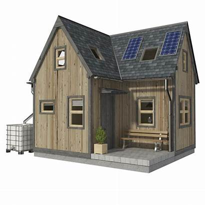 Plans Bedroom Tiny Roof Cabin Cottage Plan