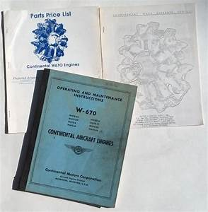 Find Original 1956 Continental Aircraft Engines W