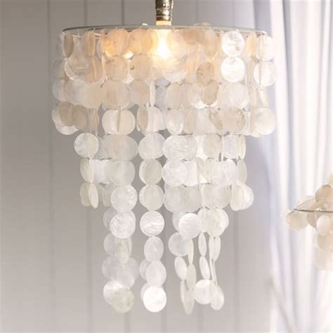 capiz chandelier pbteen