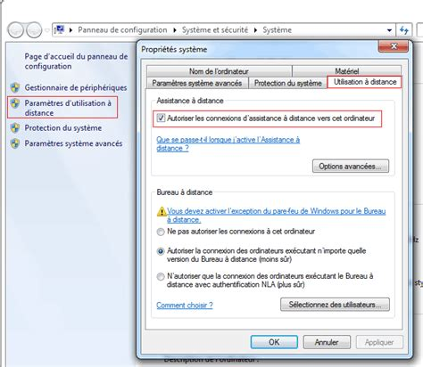 activer bureau a distance windows 7 contrôle à distance windows aidewindows