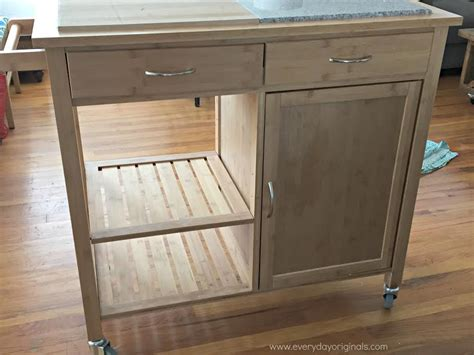 diy kitchen island cart kitchen cart upgrade guest post country chic paint 6846