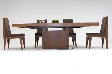 modrest zenith modern walnut extendable dining table