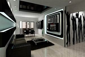 20 wonderful black and white contemporary living room designs With black and white interior design living room
