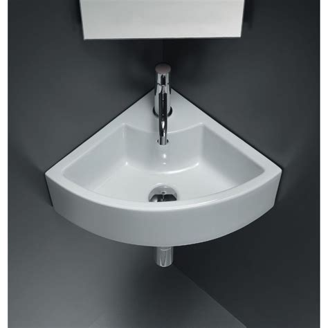 Small Bathroom Sinks Canada by Ceramic Corner Vessel Sink White In 2019 Products
