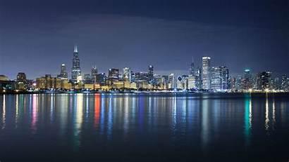 Skyline Chicago Wallpapers Night Desktop 1920 Wiki
