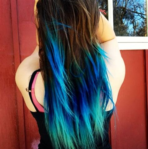 Turquoise Teal Blue Ombre Hair Mermaid Passion 4 Fashion