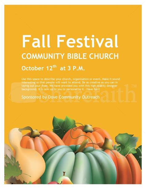 Church Fall Festival Flyer Templates
