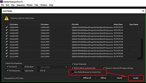 Link Media Premiere by Link Media On Network Drive In Premiere Pro Cc Adobe