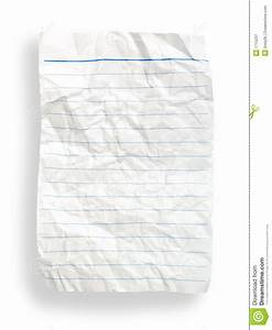 Wrinkle White Lined Paper(with Clipping Path) Royalty Free ...