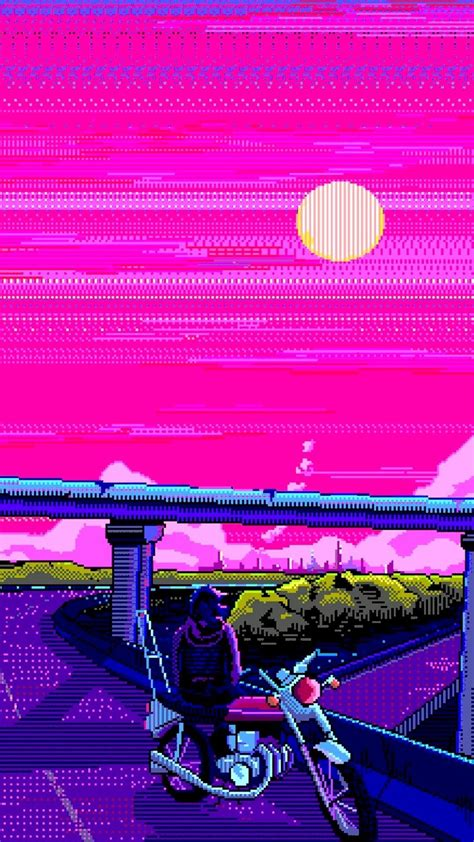 Aesthetic 8 Bit Wallpaper Iphone by Aesthetic Vaporwave Phone Wallpapers Top Free Aesthetic
