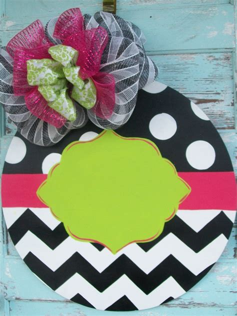 year  door hanger childs room  sign monogram boutique style personalize
