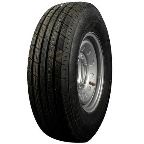 trailfinder ply radial trailer tire wheel st lug silver mod tk