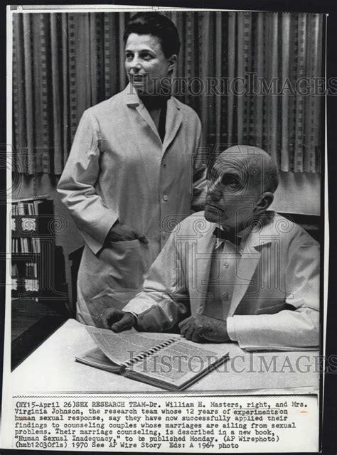 press photo dr william masters  virginia