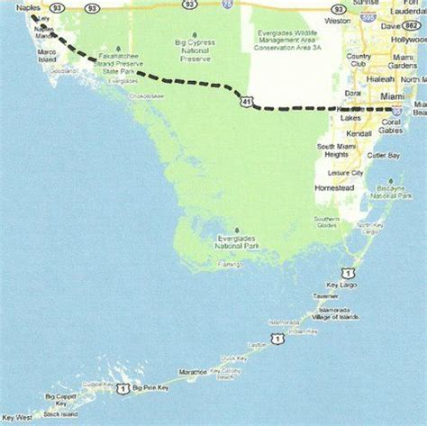 florida backroads travel map  tamiami trail