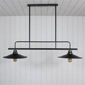 Black, Metal, Double, Ceiling, Light