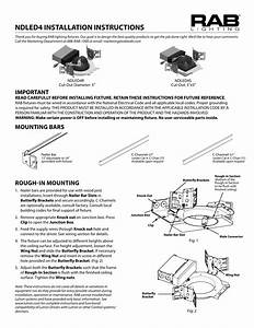 Rab Lighting Ndic4r12d  Cp Recessed Downlight Instructions