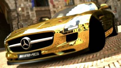 Mercedes Benz Amg Sls Gold Cars Wallpapers