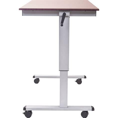 luxor stand up desk luxor crank adjustable stand up desk standup cf48 dw b h photo