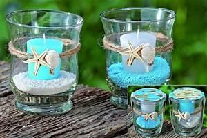Kerze In Glas : glas windlicht ocean mit kerze in wei blau 2er set ~ Sanjose-hotels-ca.com Haus und Dekorationen