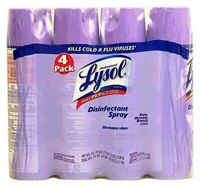 NEW Lysol Early Morning Breeze Scent Aerosol Cans 4 Pack