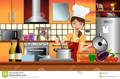 la cuisine des femmes cuisinière heureuse de femme dans une cuisine moderne