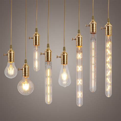2w 4w 6w 7w 8w e27 led filament bulb clear glass edison