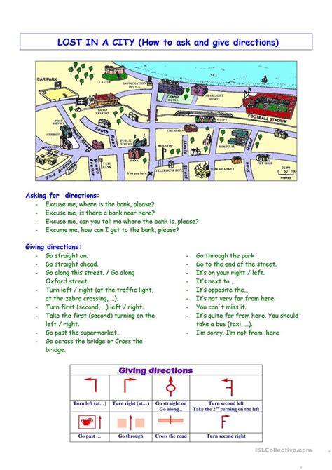 giving directions2 worksheet free esl printable worksheets made by teachers