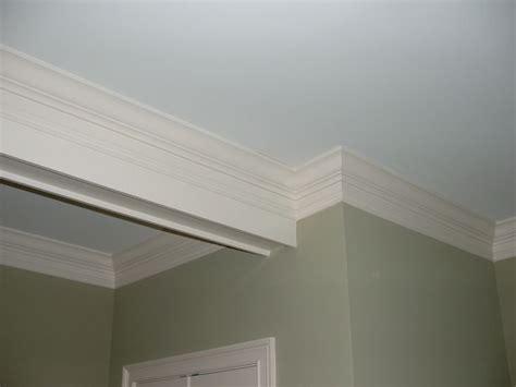 exposed beam crown molding moldings  trim fake