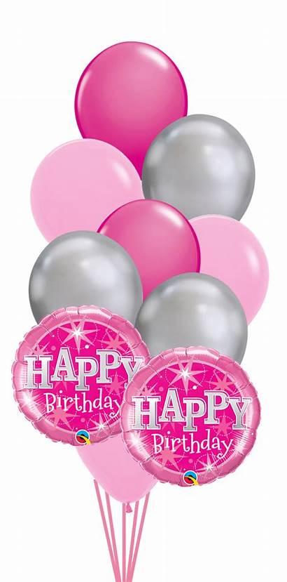 Balloons Birthday Happy Balloon Bouquet Chrome Decorations