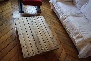 photo appartement recup blanc astuce deco decoration en With parquet recup