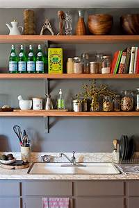 50 fabulous shabby chic kitchens that bowl you over for Kitchen shelf