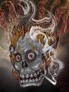 Demonic Demon Skull Drawings