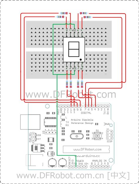 code jumper segment display lesson dfrobot electronic product wiki
