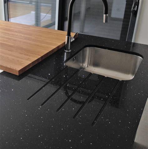 travail de cuisine quartz negro stellar nos realisations bordeaux hm deco