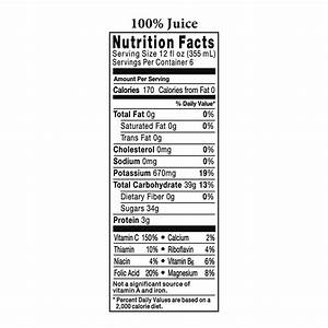 Tropicana Nutrition Facts – Mloovi Blog