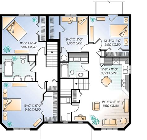 in apartment house plans plan w21428dr three unit apartment house plan e architectural design