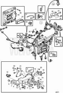 Volvo Penta Exploded View    Schematic Electric System  Engine Wiring Harness Tad1170ve