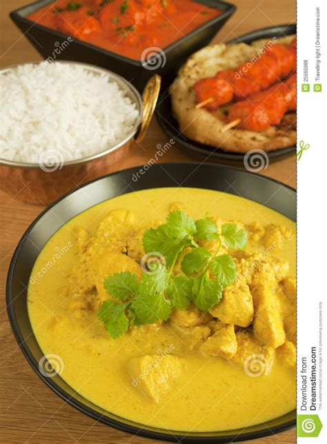 cuisine curry indian cuisine food meal curry chicken tikka stock photo