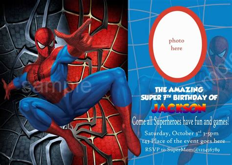 blank spiderman invitations invitetown spiderman